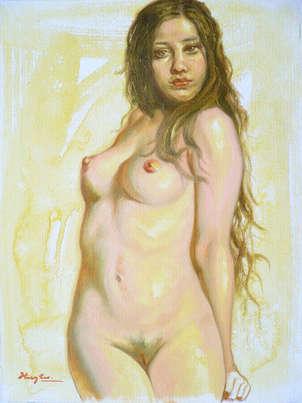 Oil female nude#1707