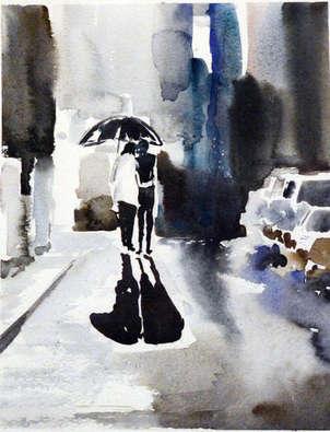 reflejos de lluvia, momentos románticos en acuarela