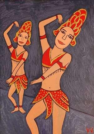 Bailarinas asiáticas