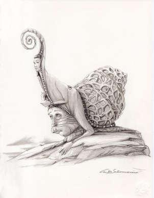 el hombre del caracol