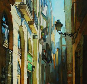 rincón soleado de la vieja barcelona