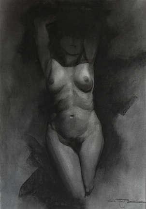 Desnudo en la sombra