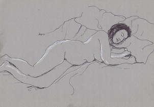 Mujer recostada en la cama 2