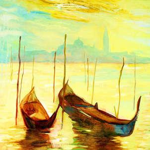 amanecer dorado en venecia