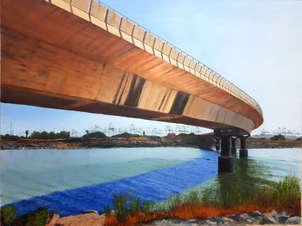 Puente sobre el nuevo cauce