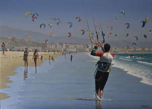 Kitesurf en playa los lances