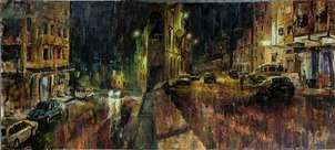 Chefchaoun. VIsta nocturna de una ciudad de Marruecos