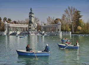 Parque del retiro de madrid, estanque grande