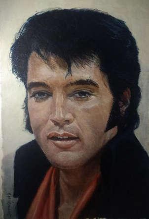 Elvis en las Vegas año 1970