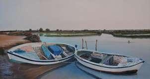 barcas en salina y pleamar