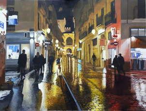 Tarde lluviosa en la calle quart