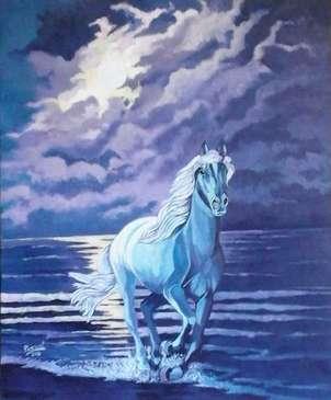 caballo y luna