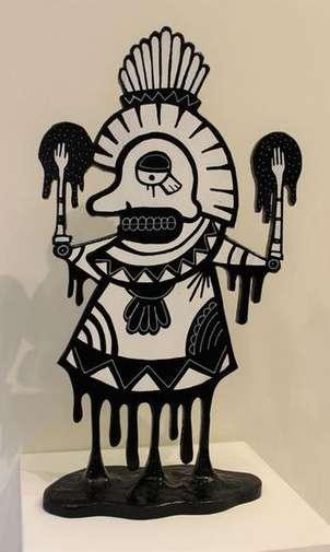 hombre azteca 3d