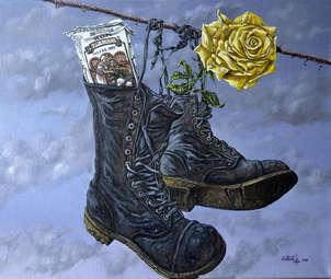 en las botas