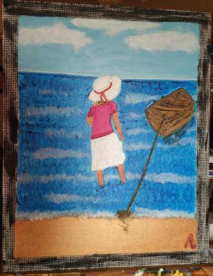 Mujer en Puri (India)