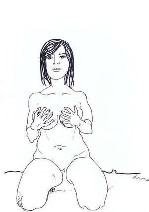 Mujer ocultando sus pechos