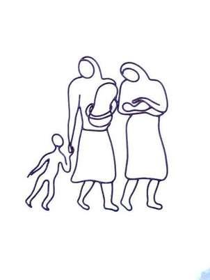 Exodo, mujeres con niños