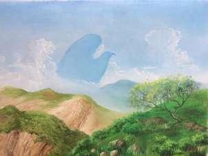 Aguila Mexicana en la sierra.