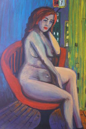 desnudo en neón