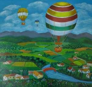 globos subre un paisaje