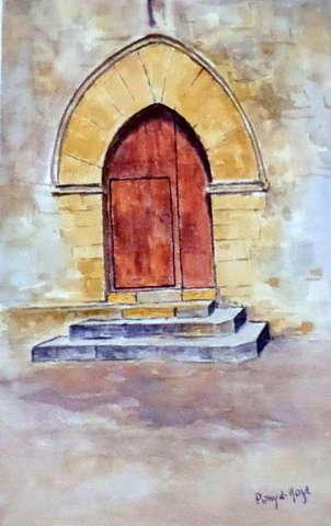 puerta de la iglesia