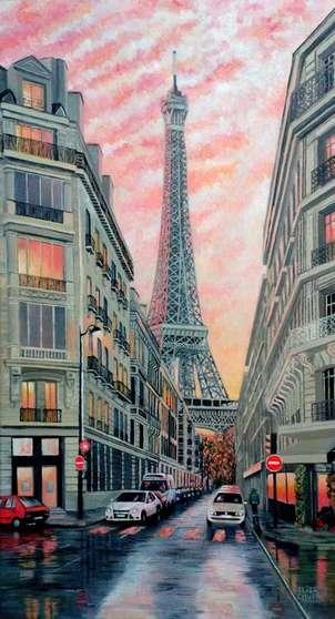 Atardecer en París después de una tormenta