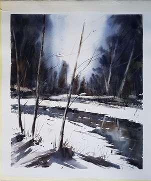 Luz en la nieve