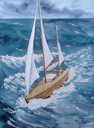 velero en mal tiempo