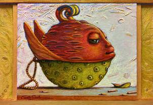 el pez tea filtro - ( enmarcado )