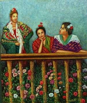damas en el balcom