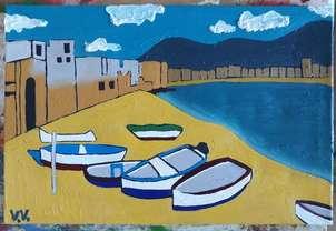 Barcas sobre la orilla
