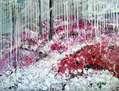 Paisaje floral rosado