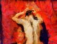 Mujer en rojo