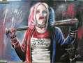 Harley Quinn - Suicide Squad - Tecnica Mixta