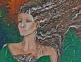 Mujer perfumada con hojas de platano