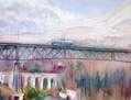 Tranvía en el puente de Dúrcal
