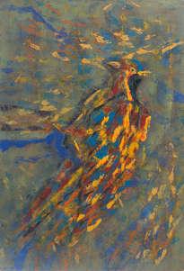 pájaro tricolor