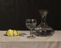 limon , decantador y copa