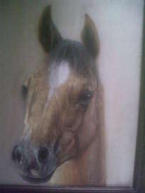 caballo pintado en seda