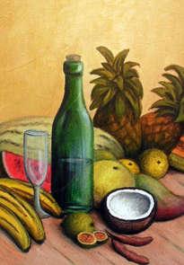 bodegon frutas tropicales