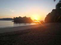 amanecer en la isla