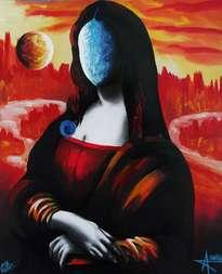 solarismo femenino  x o mona lisa  con sol y luna