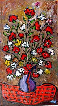 flores hacia arriba