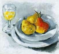 peras en plato