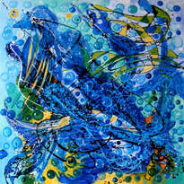 sirenele, original art my e.bissinger