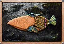 el pez con el pico - ( enmarcado )