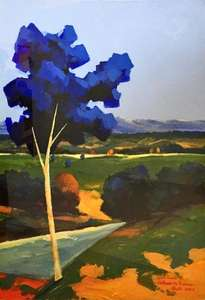 paisaje en azul