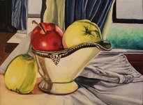 manzanas con vasija