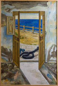 una puerta con vistas al mar ii