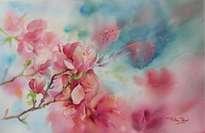 impresion floral en turquesa